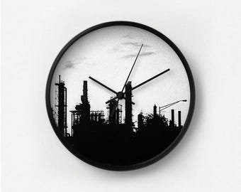 Black Industrial Wall Clock