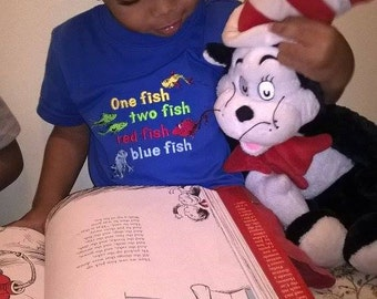 one fish two fish red fish blue fish Dr Seuss Tee