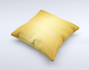 Bright Brushed Gold Surface Pattern ink-Fuzed Decorative Throw Pillow