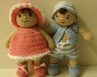 Instant Download - PDF Crochet Pattern - Dress Up Baby Doll