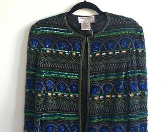 Vintage 80's Sequin & Beaded Jacket