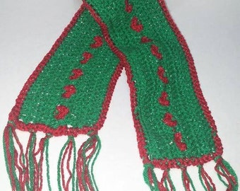 Hand Crochet | Christmas Scarf | Ready to Ship