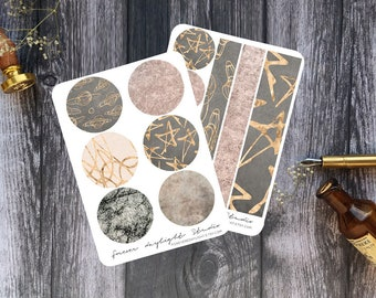 """Planner Stickers SET """"Shimmery Stardust"""" 