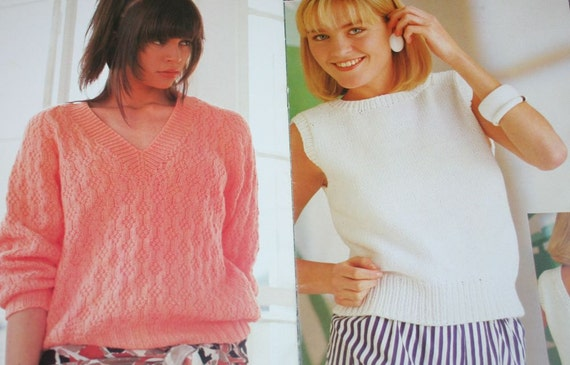 97f4e2d46159 Sweater Knitting Patterns Summer Martinique Beehive Patons 619 Women Men  Worsted Weight Yarn Vintage Paper Original NOT a PDF. Sold by elanknits.   6.56