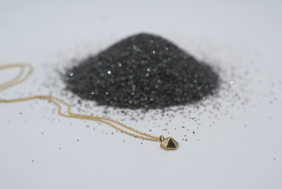 Hexagem charm necklace