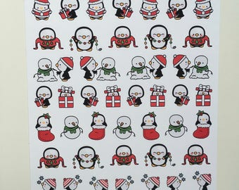 Kawaii Christmas Penguins :