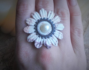 Floral Steampunk Ring