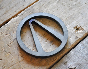 Borderlands Vault Hunter Symbol steel industrial Coaster / Paper Weight.       Gaming, Gift, Fathers day