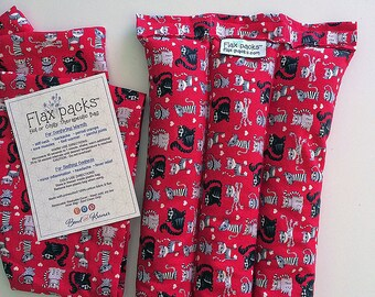 Microwave Neck Warmer, Neck Shoulder Heating Pad, flax heat pad, microwave pad, Cat Lover themed, cats, crazy cat lady