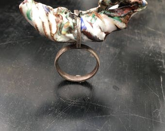 Statement Ring, Statement Jewelry, Avant Garde Ring, Avant Garde Jewelry, Scutural Jewelry, Sterling Silver Ring, Contemporary Ring, Ring