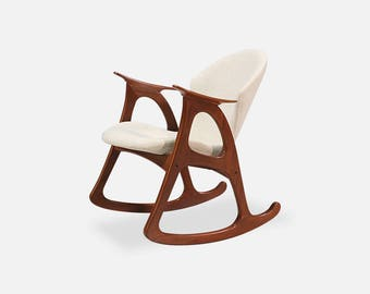 Danish Modern Rocking Chair By Erhardsen U0026 Andersen
