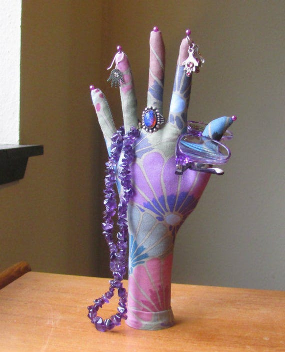 CLASSIC Thousand Flowers HAND-Stand ~ Jewelry Display ~ Ready to Ship