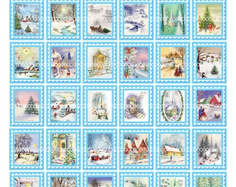Digital Clipart, instant download, Christmas vintage images trees church winter snow sleigh, printable digital collage sheet, 8.5by11 1395