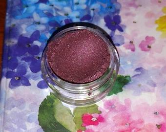 COTM - Heather's Nebula -satin warm cranberry mineral eye shadow 5 gram jar VEGAN