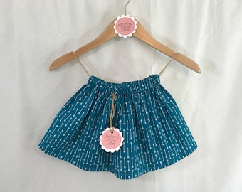 Arrow to My Heart! - Arrows & Teal - Girls Skirt - Ready to Ship