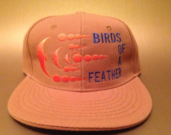 Birds of a Feather Phish Fitted Hat made to order flat bill FREE SHIPPING