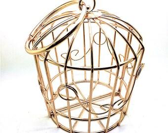 "Hot sales Birdcage metal frame clutch bag with circle metal handle, 13cm x 15cm x 16cm / 5"" x 6"" x 6"" M88"