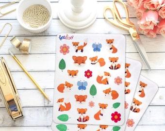 Cute Fox Planner Stickers