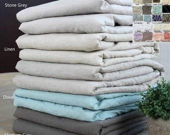 Natural Linen Duvet cover, over 41 colors and patterns to choose, Natural Linen bedding, Custom Size