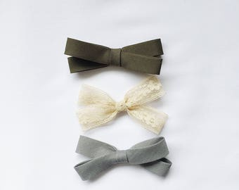 Fall Bow Headband Set for your little darling.