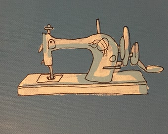 Antique Sewing Machine Painting
