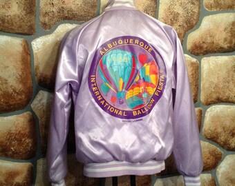 1988 Albuquerque InternTional Balloon Fiesta Purple Jacket Adult L Large Rare