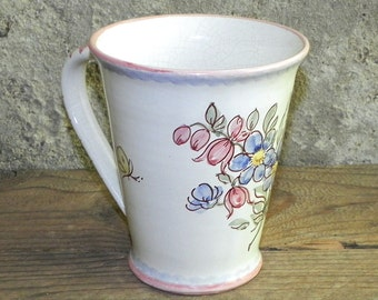 Ceramic Cup with floral decor