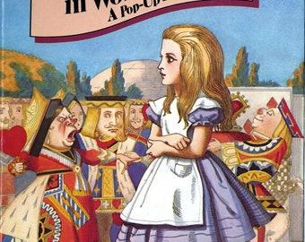 Pop-up book, Lewis Carroll, Alice's Adventures in Wonderland ALICE IN WONDERLAND 1980