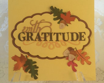 Thanksgiving, Grateful, Cards, Elegant, Feminine, Handmade, Beautiful