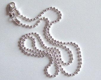 10 - 20 inch  Silver Ball Chain