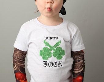 Tattoo Sleeve T shirt ShamRock St Patrick's Day