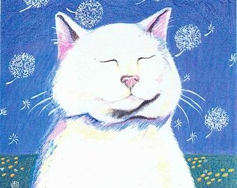 Dandelion Breeze notecard