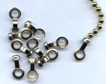 25 Silver Ball Chain Connectors