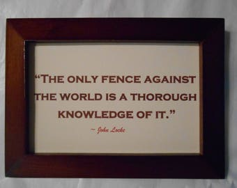 Knowledge is power, an educational quote by John Locke.