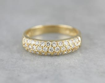 Pave Diamond Gold Wedding Band Z9LWFR-N
