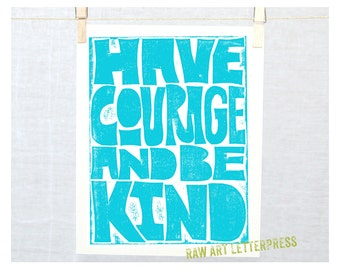 Have Courage Wall Art, Girls Room Wall Art, Classroom Decor, Back to School, Cubicle Decor, Teen Girls, Country Home Decor