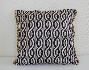 Cushion Queen Graphics Prints Cushion cover,Chocolate and White