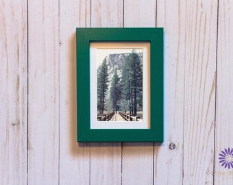 Yosemite National Park Framed Photography Art 5x7 Forest and Bridge