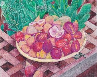 FIGS IN A BOWL - Art Print/Still Life/Fruit