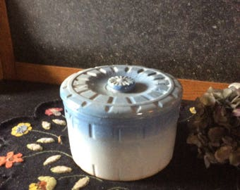 Salt glaze crock with lid