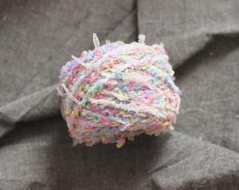30 Gram Handmade  Mixed Art Yarn For Knitting / Weaving / Crochet / Gift Wrapping /Dream Catcher Making -- Rainbow 2nd
