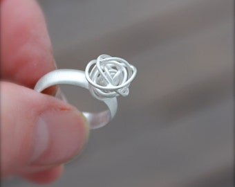 Tumbleweed Sterling Silver Ring. Handmade Silver Tumbleweed. Medium tumbleweed. Silver knot wire. satin finish. OOAK. Unique