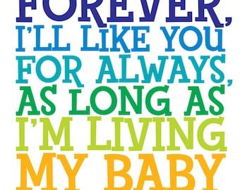Delightful Iu0027ll Love You Forever  11x14 Robert Munsch