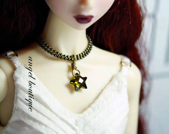 Cute Little Green Star-shaped Crystal Necklace