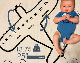 Month-by-Month Airplane Bodysuits (7-9 Months)