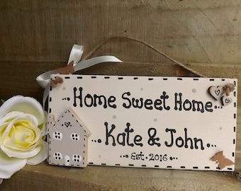 Personalised new home house warming plaque sign