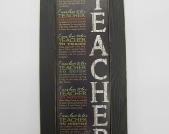 Born To be A Teacher, Teacher Gift, Inspirational Teacher Poem,Marla Rae,Teacher Poem,Marla Rae