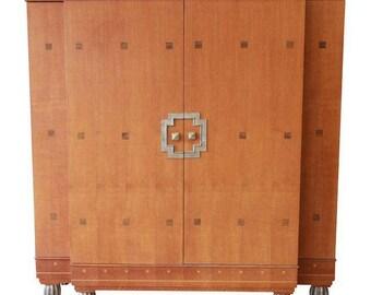 art deco era furniture. SOLD - Baker Furniture Art Deco Style Burl Wood Armoire Era