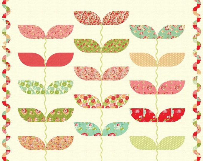 Divine a cut circle, machine applique quilt pattern with a fun border