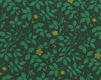 Fabric by the Yard-Brambleberry in Green-Christmas at Brambleberry Ridge by Violet Craft for Micheal Miller